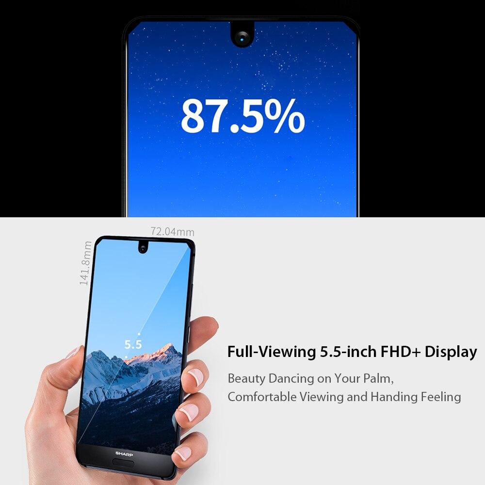 HTB1aqt R4TpK1RjSZR0q6zEwXXa8 Global Version Sharp AQUOS S2 C10 4GB+64GB 5.5inch FHD+ Android8.0 Octa Core 12MP+8MP NFC Fingerprint 4G Smartphone