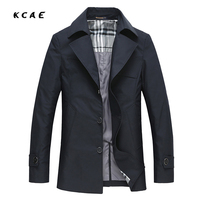 Spring Autumn Trench Coat Mens Cotton Button Long Male Casual Jacket Men Windbreaker Overcoat Jackets Coat