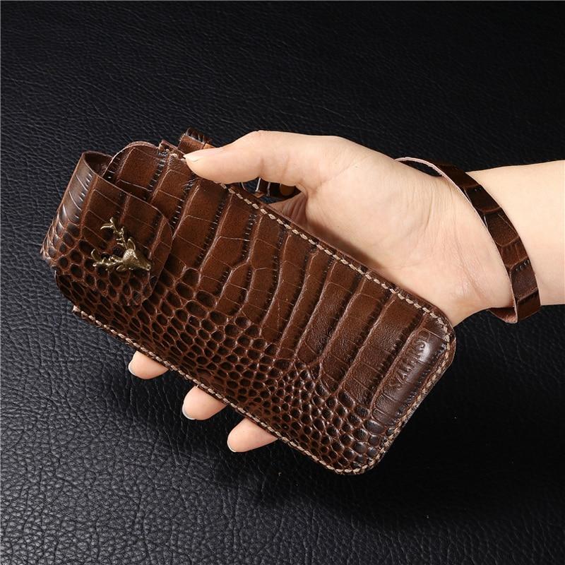 SZLHRSD for Cosmo Communicator Belt Clip Holster Case for Cosmo Communicator Cover Genuine Leather Waist Bag Coque Case