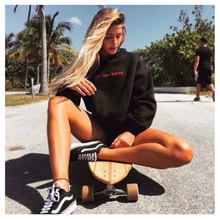 Cropped Hoodies Sweatshirt Women Aesthetic Black G