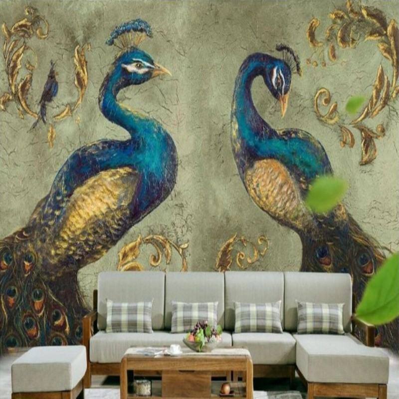 Photo Wallpaper Southeast Asia Peacock Wallpaper Mural
