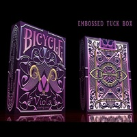 Bicycle Viola Playing Cards Collectable Poker USPCC Limited Edition Deck Magic Cards Magic Tricks Props For