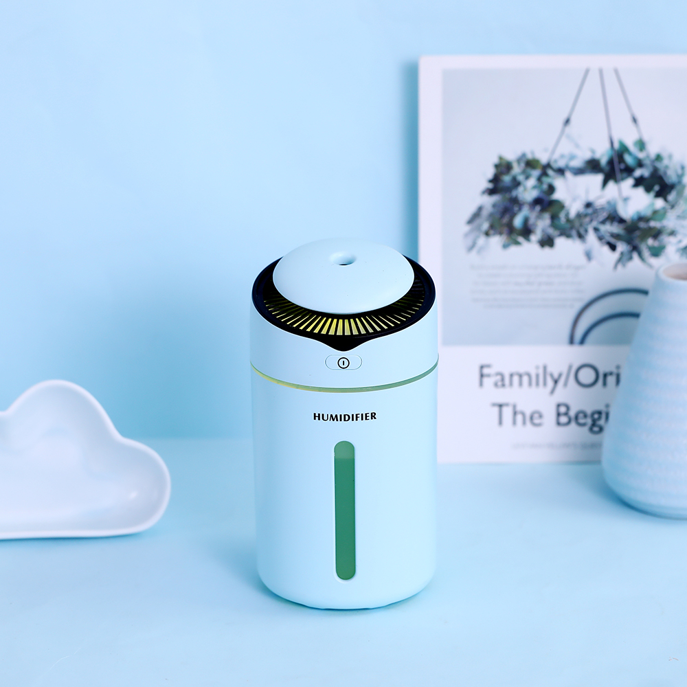 300ml Mini I9 Humidifier With Probe Safety Mute Air Humidifier USB Clorful Night Light Diffuser For Home Office Car Air Purifier