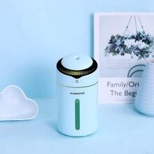 300ml Mini I9 Luftbefeuchter Mit Sonde Sicherheit Mute Air Luftbefeuchter USB Clorful Nacht Licht Diffusor Für Home Office Auto luftreiniger