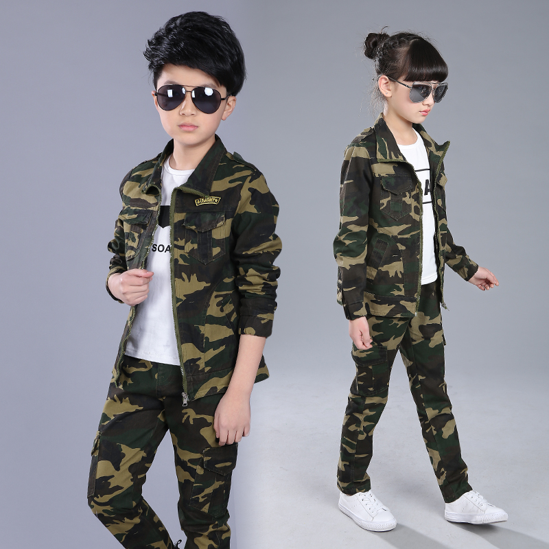 2017 New Kids Baby Toddler Girls Boy Camouflage Clothes Set Coats + Pants Outfits Kids Boys Girls Clothes Vetement Enfant Garcon 2pcs set baby clothes set boy