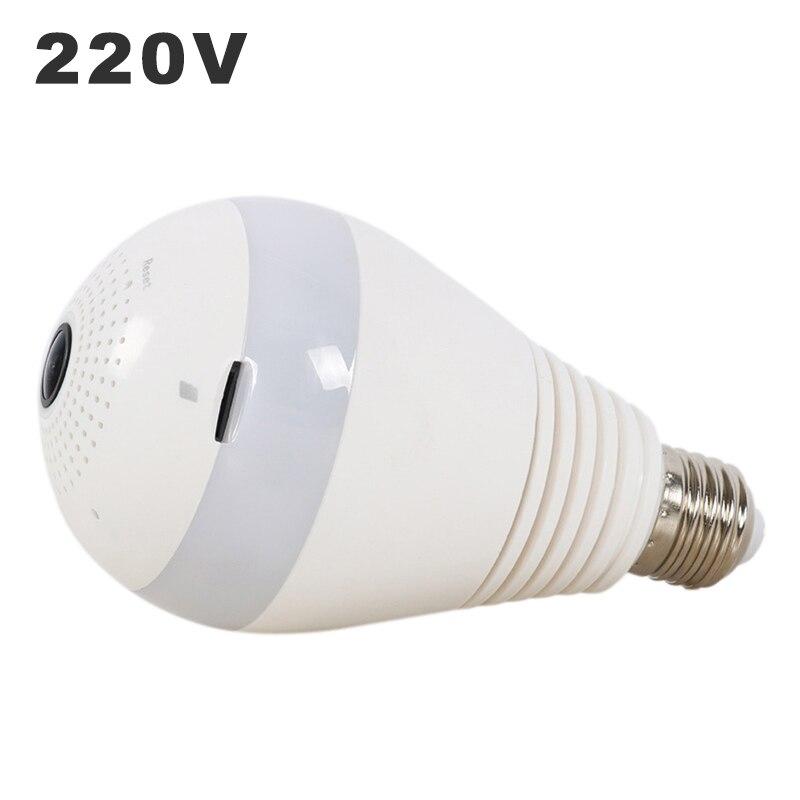 E27 ampoule LED 3 W 220 V FishEye caméra de Surveillance ampoule 360 degrés Surveillance panoramique sécurité à domicile sans fil 2.0MP 3.0MP