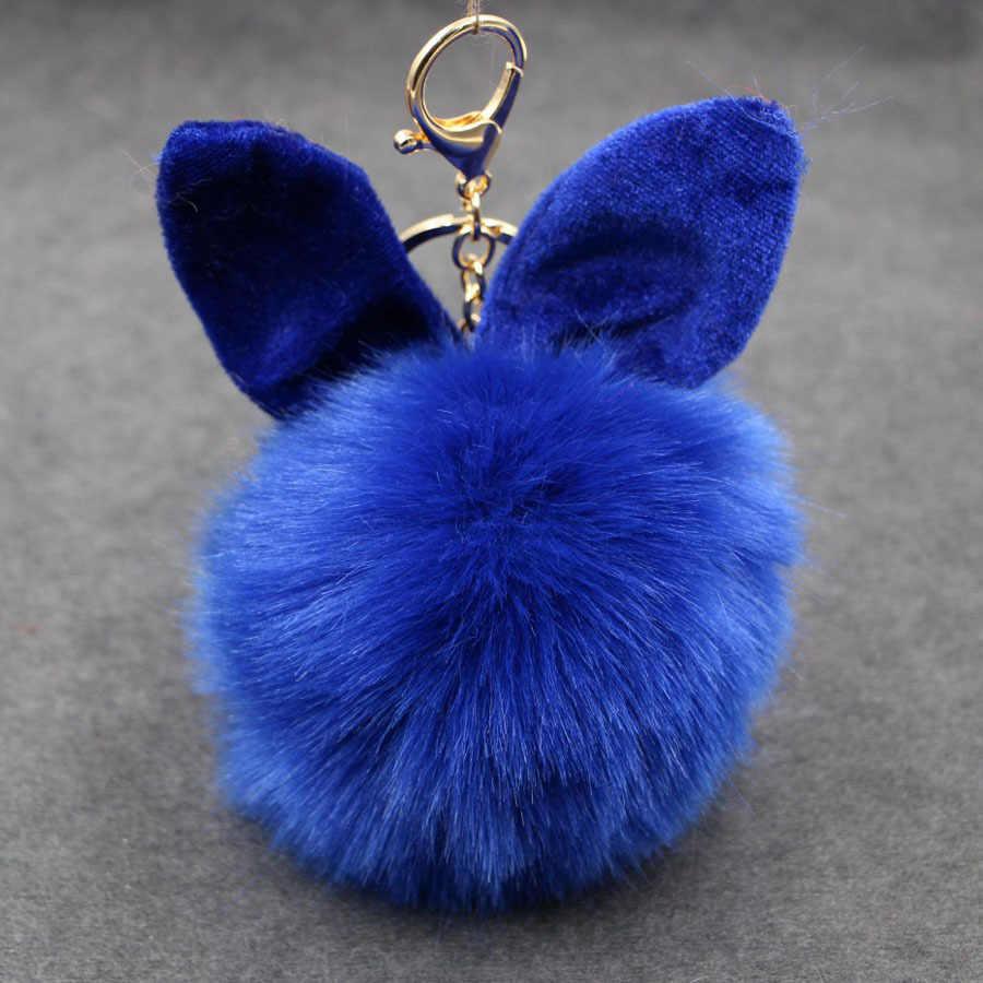 Chaveiro de Coelho Imitação de Pele De Coelho Bola Pompom Fofo originais Boneca Bonito Pompom Saco Chaveiro Carro Chaveiro Para As Mulheres Menina jóias
