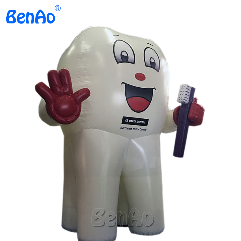 AC130 Hot sale inflatable tooth, giant inflatable toothbrush, inflatable tooth balloon for advertising,product Promotion replica image