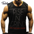 TADDLEE Brand Men's Muslce Vest Tank Tops Bodybuilding Fitness Men Cotton Singlets Plus size O-Neck T Shirt Man Gasp Sleeveless
