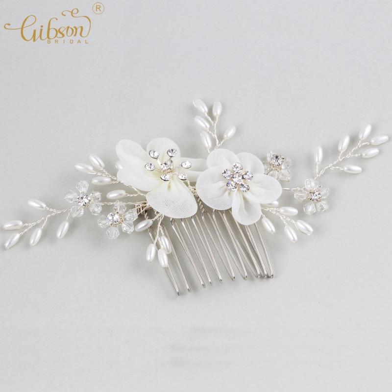 Wedding Hairstyle Price List: Cheap Price Wedding Hair Jewelry Silk Lace Flower Bridal
