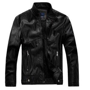 Image 4 - Мужская кожаная куртка ZOEQO, куртка из высококачественной кожи, мотоциклетная куртка