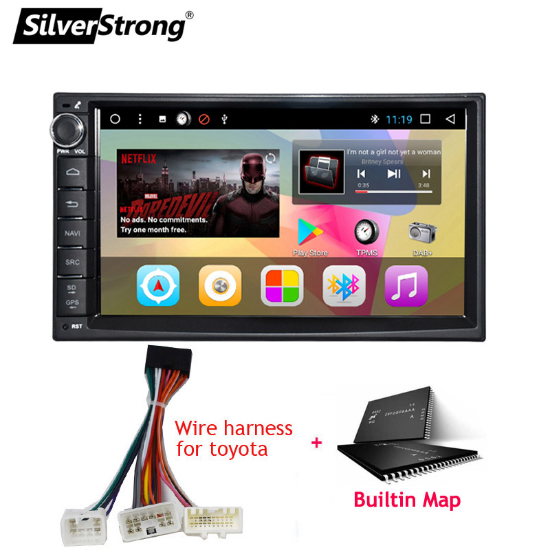 SilverStrong Android8.1 universel 1Din autoradio GPS Auto stéréo LADA GRANTA autoradio magnétophone pour Toyota/Nissan 707DT3 - 4