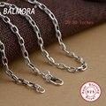 BALMORA 100% Real Pura Plata Esterlina 925 Cadenas Collares para Las Mujeres de Los Hombres Accesorios de Joyería Fina Al Por Mayor Bijoux CK0002