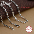 BALMORA 100% Real Pure 925 Sterling Silver Chains Necklaces for Women Men Fine Jewelry Wholesale Accessories Bijoux CK0002