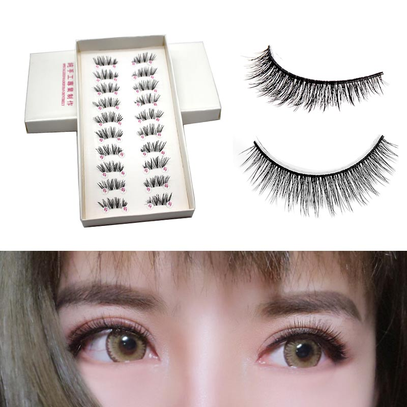 2016 NEW EG04 10 Pairs HALF/MINI/CONER WINGED CROSS False Eyelashes SOFT Eye Lashes M02679