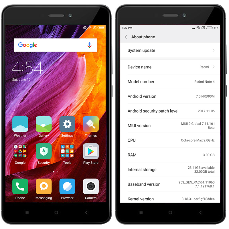 Mondial Version Xiaomi Redmi Note 4 Smartphone 3 Gb 32 Snapdragon 625 Octa Base 55 1080 P 130MP FCC CE 4100 Mah MIUI 9 Dans Mobile Telephones De