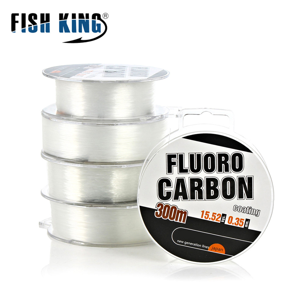 Shock Leader Cord Fishing-Line Fluorocarbon Strong-Wire Coating Japan 300M 30-45lb/13.5-20.3kg