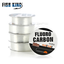 300M FluoroCarbon Fishing Line Strong Wire Shock Leader Japan Carbon Fiber Coating Fly Fishing String Cord 30-45LB/13.5-20.3kg