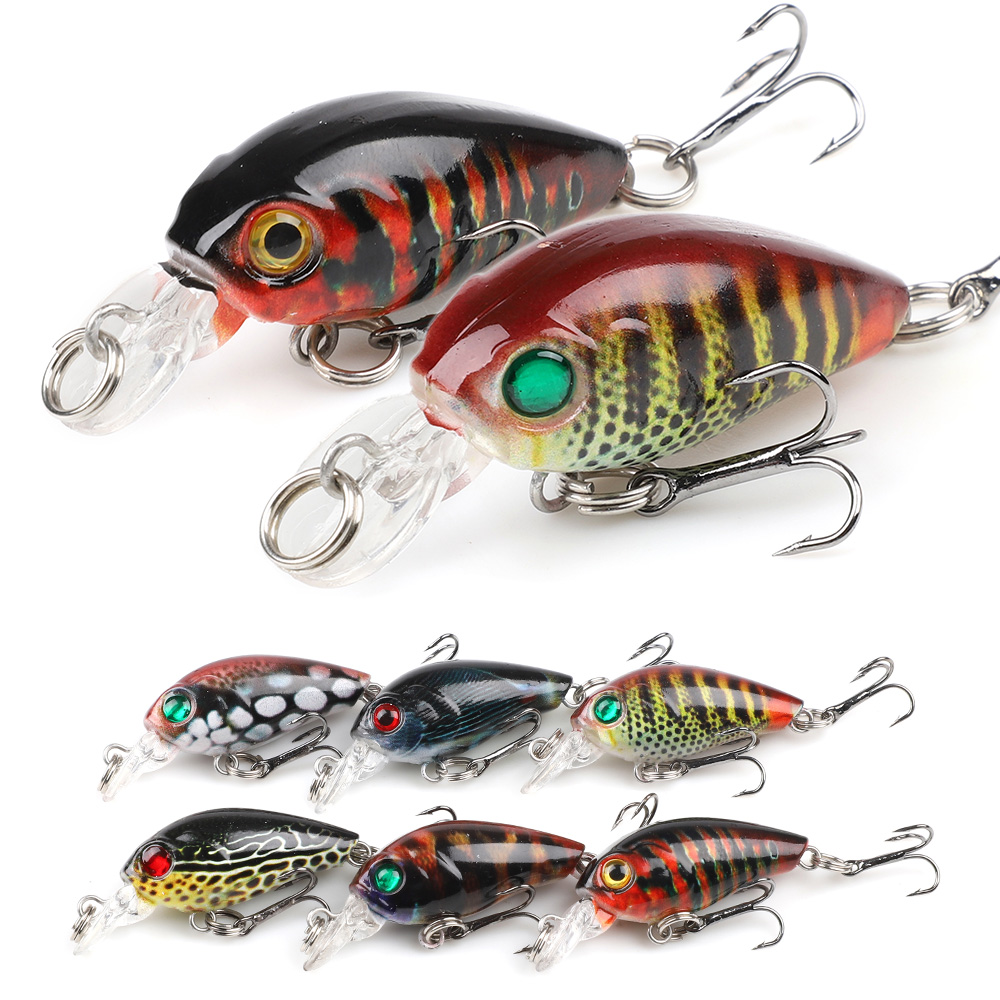 DONQL 2pcs/lot Painted Crankbaits Minnow Fishing Lures 4.7cm 4g Wobblers For Trolling Artificial Hard Swim Bait Fishing Tackle