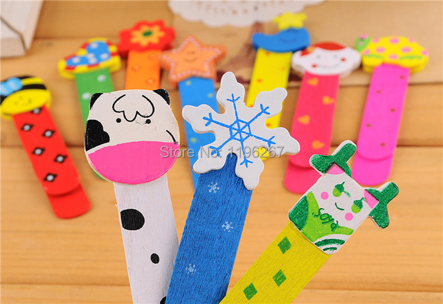 24PCS Wooden Animal Bookmark with scale ruler kids birthday party supply baby shower favors party souvenirs
