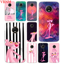 Pink Panther Trend Accessories Phone Case For Motorola Moto G7 G6 G5S G5 E4 Plus G4 E5 Play Fit Pattern Customized Coque Cover