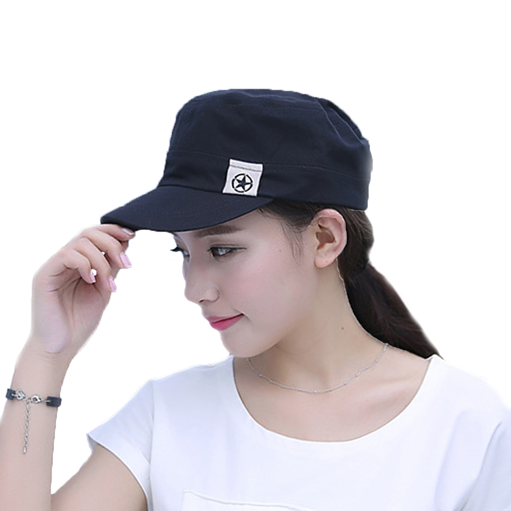 a4bf8f8cff5 Detail Feedback Questions about Unisex Military Army Cap Hot Castro Cadet  Patrol Hat Flat Roof Military Hat Adjustable Retro Casual Caps For women  and man ...