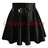 Latex Skirt Skater Skirt Women Skirt