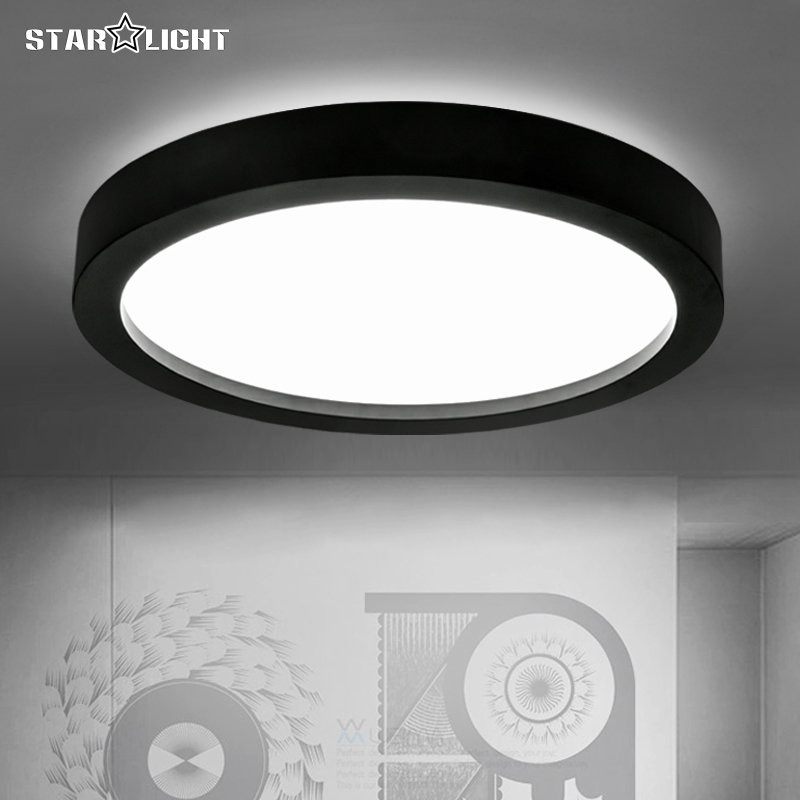black and white round lamp modern led light remote control dimmer ceiling lighting home fixtures. Black Bedroom Furniture Sets. Home Design Ideas