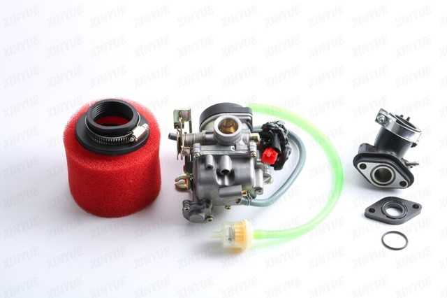 20mm 139QMB GY6 50cc 80cc 100ccCarburetor Intake Manifold Boot Air Filter Scooter Moped