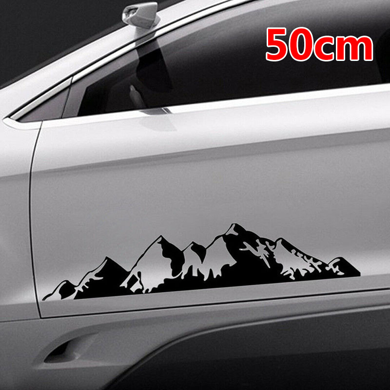 100cm New PET SUV RV  Camper  Auto Decal Tree Mountain Car Decor Car Sticker