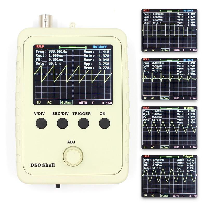 Digital Oscilloscope DIY Kit with Case Fully Soldered Electronic Learning Set 1MSa/s 0-200KHz 2.4