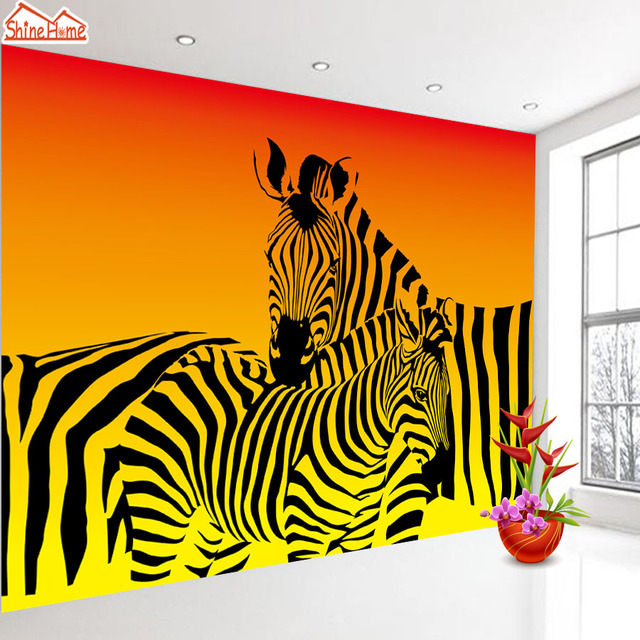 ShineHome Abstrakte Zebra Streifen Tier Tapete für Schlafzimmer ...