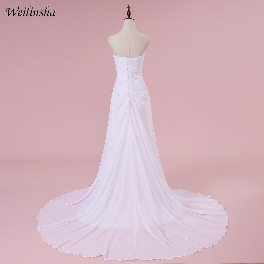 Weilinsha romântico querida vestidos de casamento chiffon
