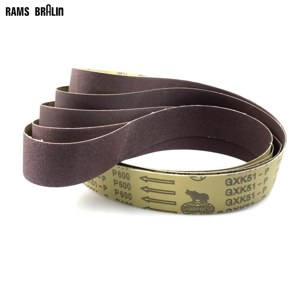 Abrasive Belt Grinder-Accessories Sanding-Belts Fine-Grinding 50x1220mm 2-48 10pieces