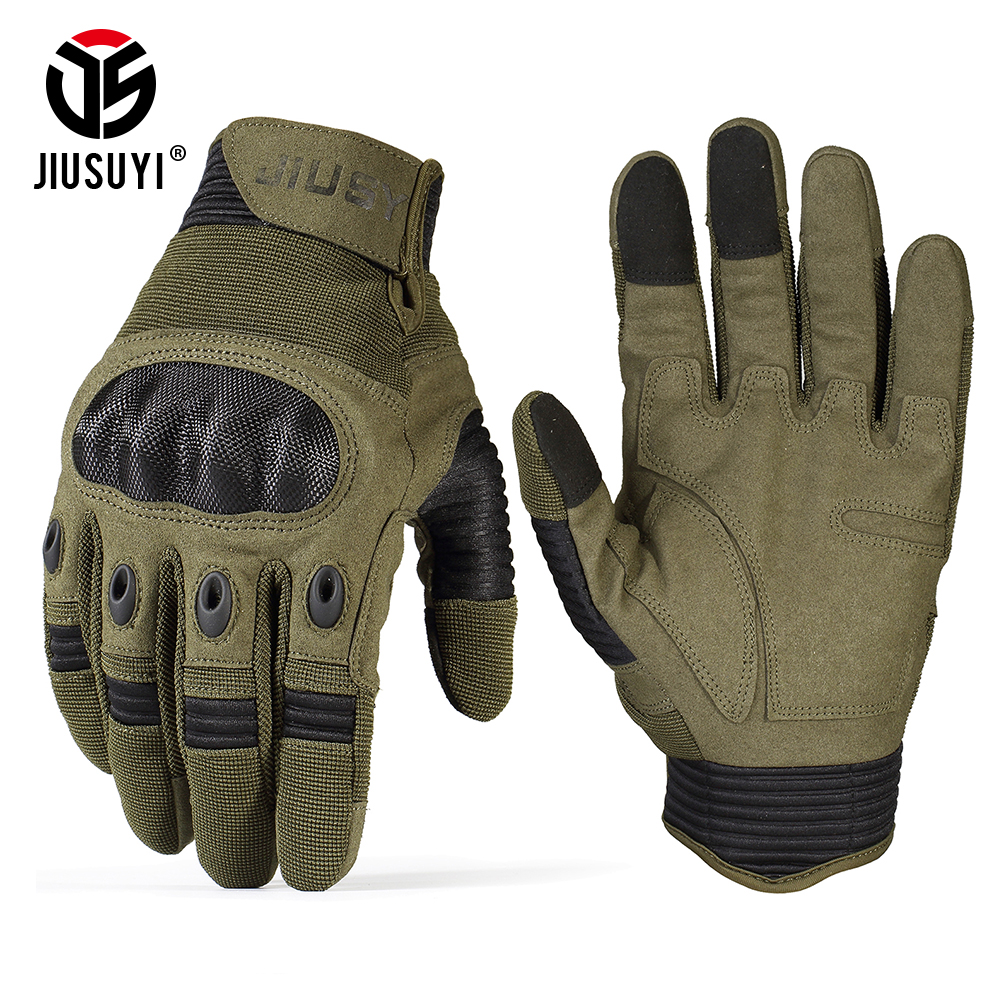 TouchScreen Military Tactical Gloves Army Paintball Shooting Airsoft Combat Anti-Skid Hard Knuckle Full Finger Gloves Men Women(China)