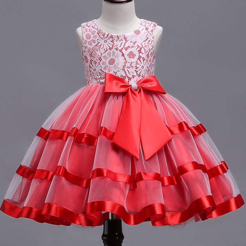 ộ ộ Baby Girls Dress Christmas Vestidos Costumes Princess Girl S Lace Flower Dresses Ball Gown Pageant Party Dress Children Clothing A26