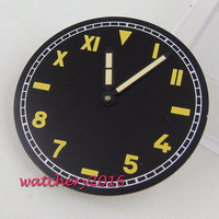 37.5mm sterile dial + Watch Hands fit 6497 6498 ST movement