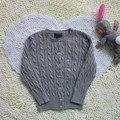 Novo Bebê da Menina Outono Primavera Crianças Camisola Único Breasted Algodão Sólida Manga Longa Kintted Cardigan Casaco Jaqueta RL