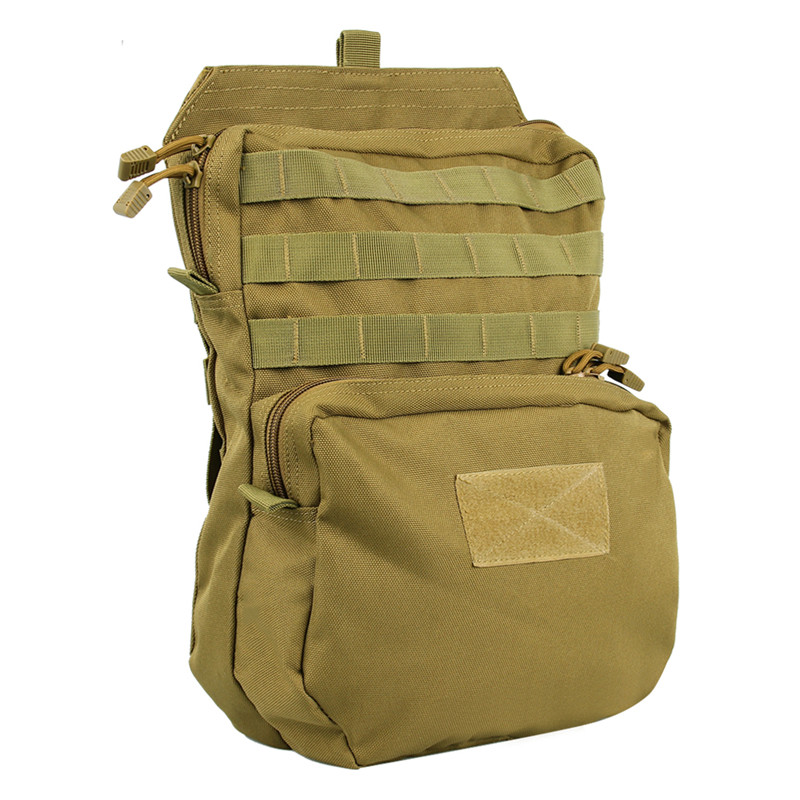 MOLLE Tactical Hydration Backpack 3L Camelback Water Holster Bag Knapsack Tactical Molle Vest Hunting Backpack ultimate arms gear dark earth tan tactical scenario military hunting assault vest w right handed quick draw pistol holster and heavy duty mag pouch belt od olive drab green 2 5 liter 84 oz replacement hydration backpack water bladder reservoir in