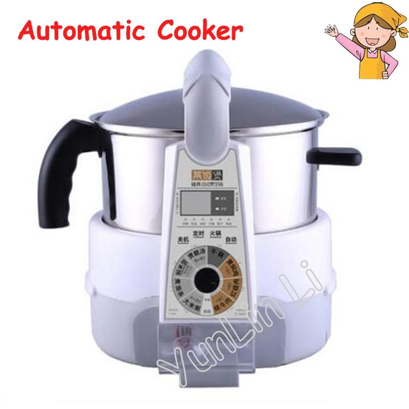 Автоматический Электрический Плита Интеллектуальный робот Пособия по кулинарии горшок Главная многофункциональный машины жарки рагу суп и Паровая машина jsg-m81