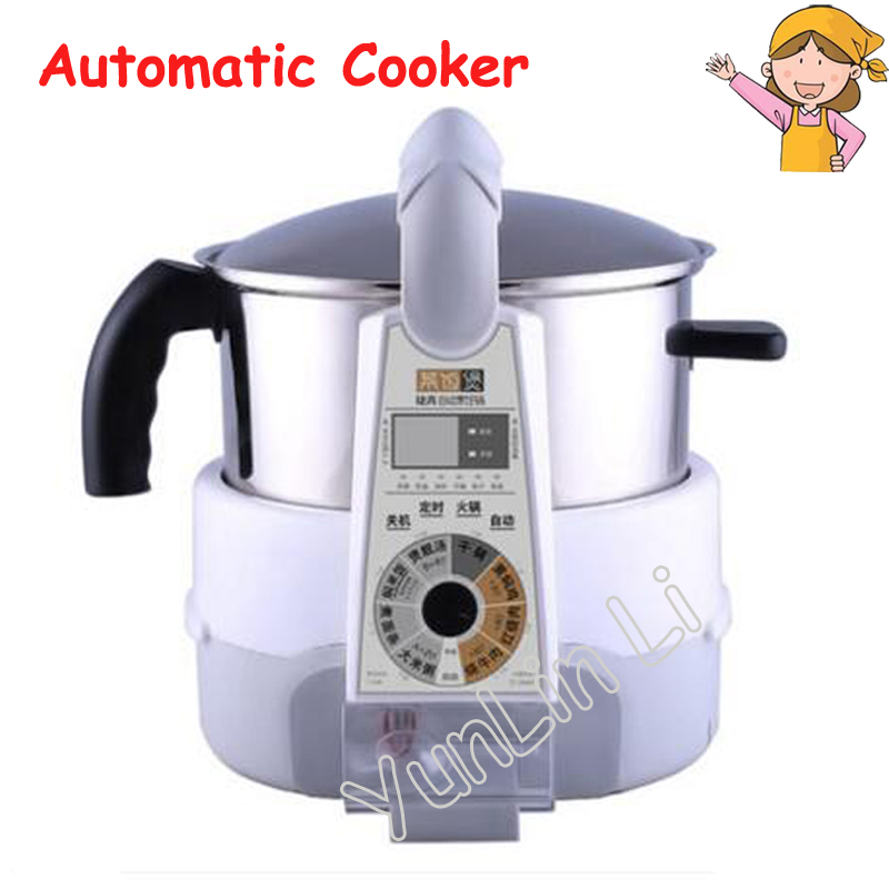 Automatic Electric Cooker Intelligent Robot Cooking Pot Home Multi-function Frying Machine Stew Soup and Steam Machine JSG-M81 cukyi stainless steel electric slow cooker plug ceramic cooker slow pot porridge pot stew pot saucepan soup 2 5 quart silver
