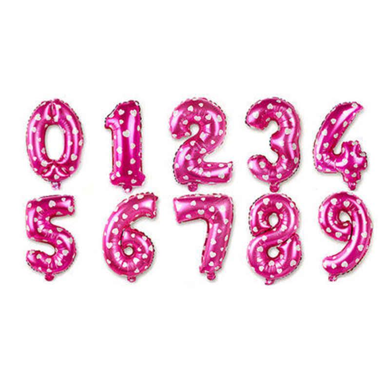 32 pulgadas grande azul Rosa número globos Feliz cumpleaños globo fiesta decoración niños bebé niño niña fiesta Número de globos
