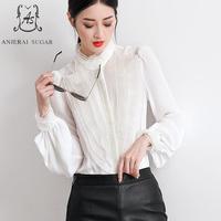 Летний топ Женская блузка Рубашки для мальчиков Сексуальная органзы оборками шифоновые блузки Ретро Blusa Большие размеры blusas Mujer de Moda 2017 Camisa
