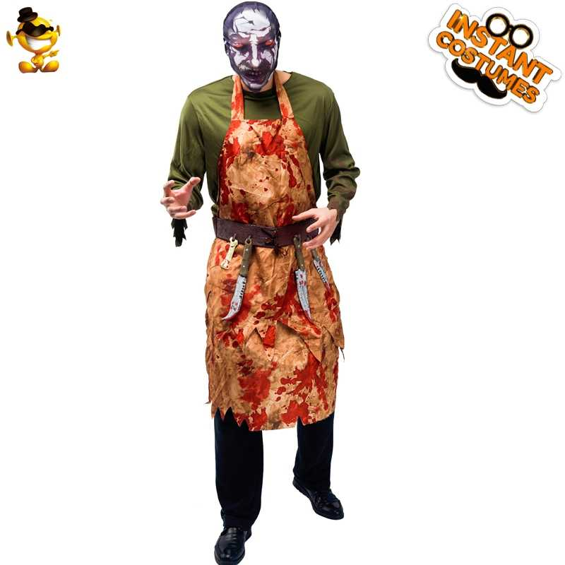 Do you ever feel that halloween creeps up on you or that you're never actually ready when the day arrives? Halloween Men Cruel Butcher Horror Costume With Fancy Dress Scary Bloody Zombie Long Sleeve Set Cosplay For Adult Party Aliexpress