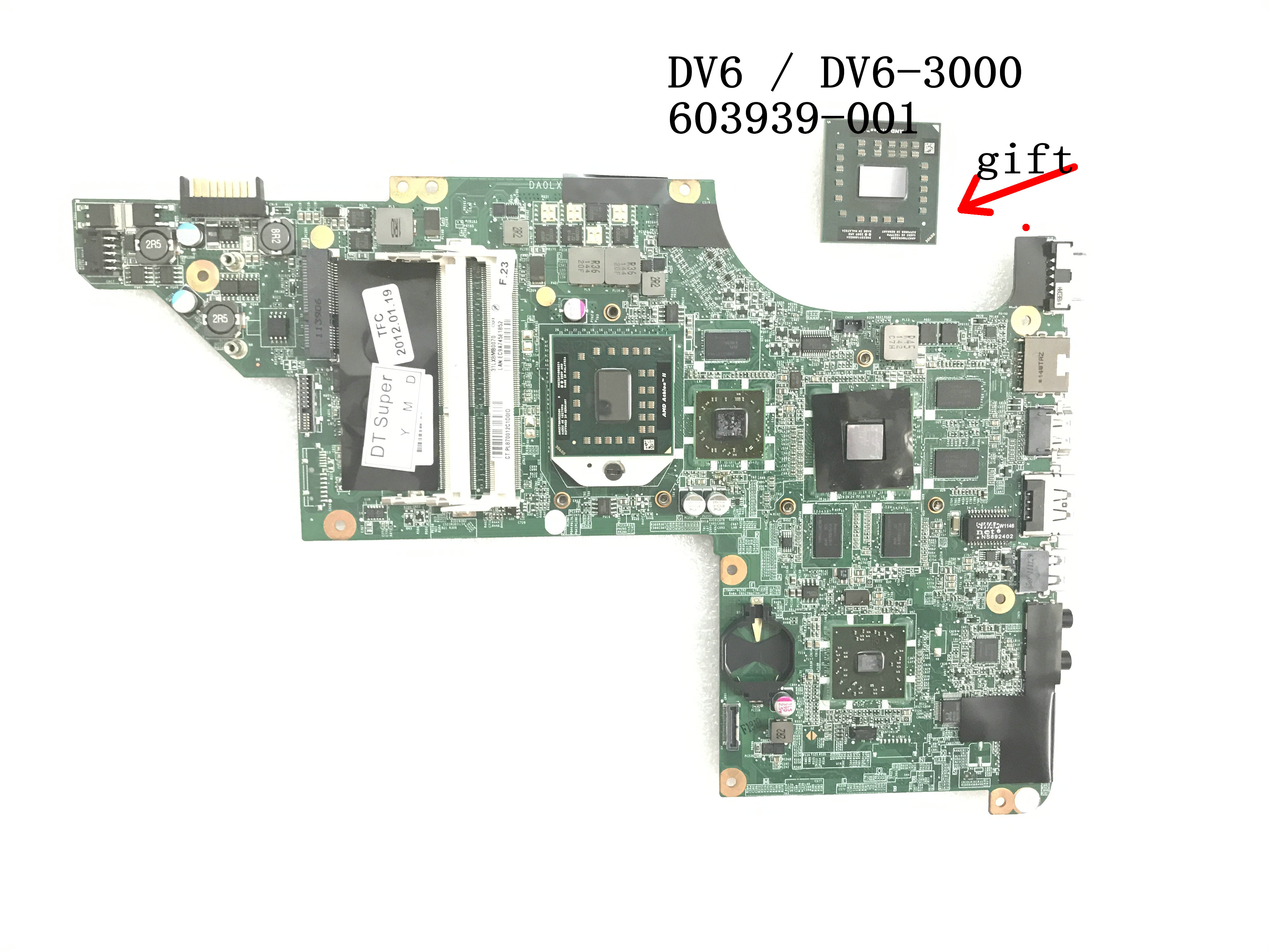 BiNFUL STOCK 100% 603939-001 DA0LX8MB6D1 FOR HP PAVILION DV6 DV6-3000 VIDEO CARD