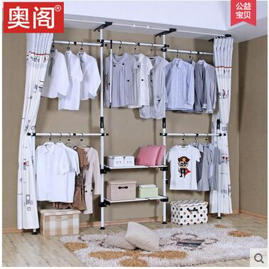 The simple cloth art receives the wardrobe economic model to assemble bedroom of contracted modern steel frame h