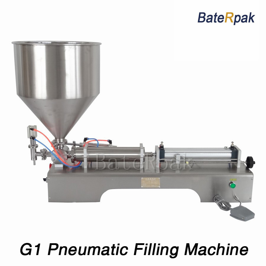 G1 stainless steel horizontal pneumatic paste automatic filling machine,BateRpak high viscosity paste filling machine,5-100ml zonesun a02 filling machine stainless steel pneumatic paste liquid filling machine 5 50ml tank capacity 10kg