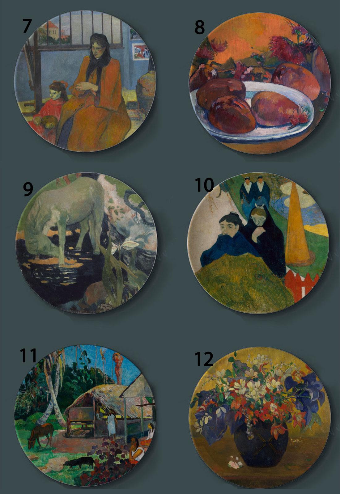 Gauguin Wall Decorative Ceramic Plates Cosiness Shop