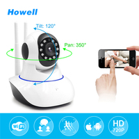 Howell Network Security Video Camera P2P Wifi IR Cut IP Camera 2 Ways Audio Wireless CCTV