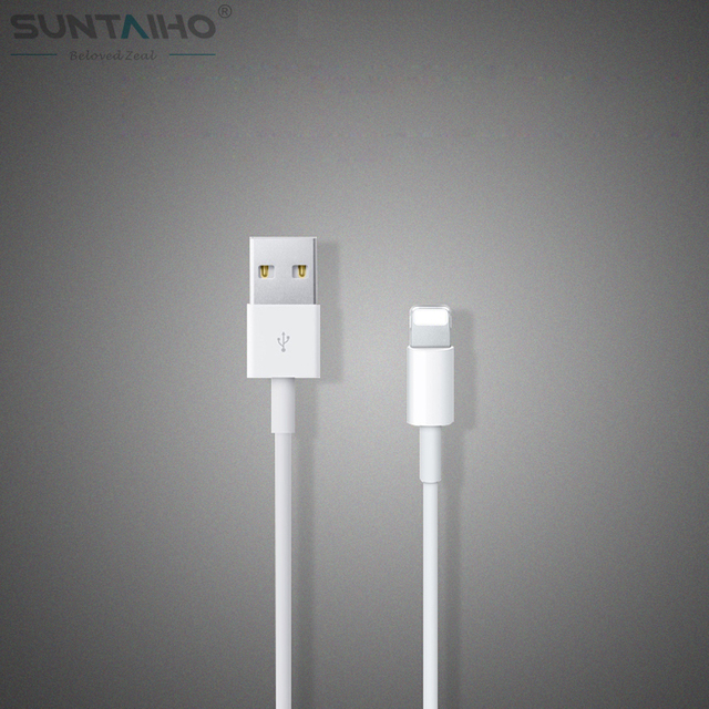 (100% Tested) 2015 Latest 8pin USB 1M White Wire Date Sync Charging Charger Cable for iPhone 5 5s 6 6 plus For iPad for ios 8 9